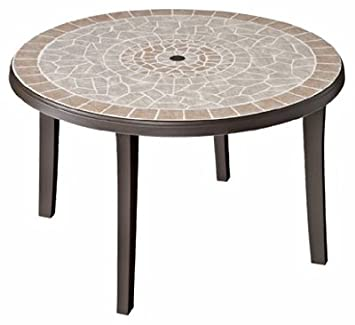 GROSFILLEX US672137 Bahia Table, 46 Inch, Bronze