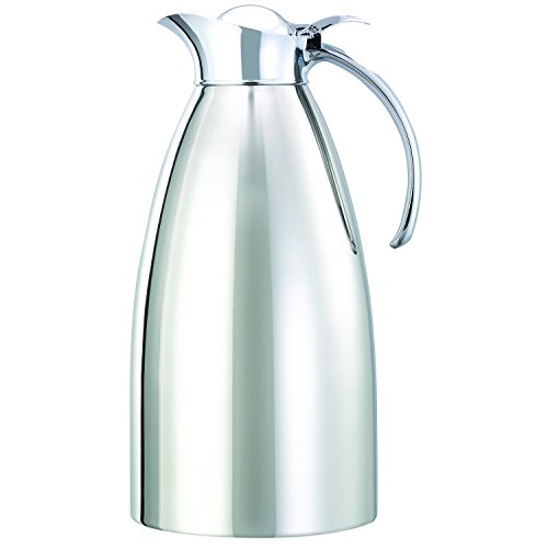 Service Ideas 982C10 Carafe, Stainless Steel Lined, Polished Exterior, 2 L by Service Ideas