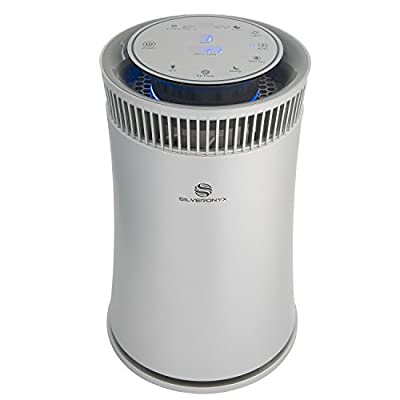 SilverOnyx Air Purifier with True HEPA Filter, Allergen and Odor Reduction, UV Sanitizer, Best Home Air Cleaner for Allergies, Pets, Dust, Smokers, Cooking, 5-Speed for Large Room 600 Sq Ft