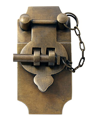 4 Inch Large Antique Style Trunk Hasp with Chain Pin by Nesha by Nesha Design Components