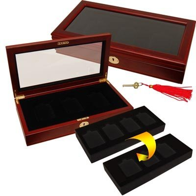 Heirloom Collection Coin Display Box for 3 or 4 Graded Coin