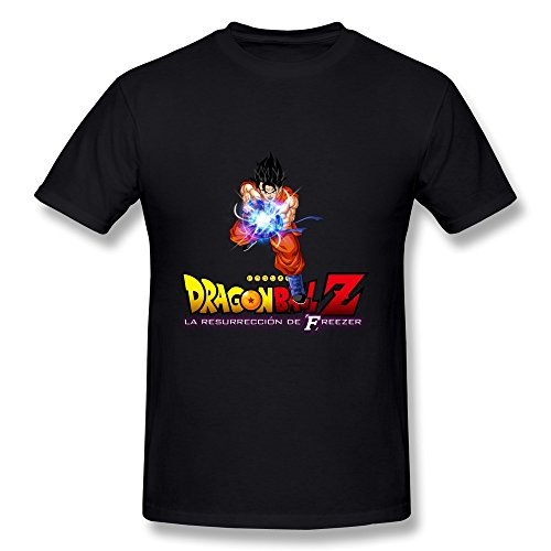 (CaiTian Men's Dragon Ball Z Poster T-Shirt - Funny Quotes T Shirts Black US Size)