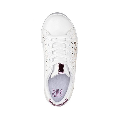 La Redoute Collections Mdchen Sneakers mit Floralem Lochmuster 2639 Gre 39 Weiss