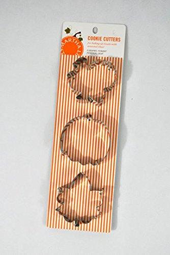 Stewart Martha Cutters Cookie - Martha Stewart - Turkey, Pumpkin, leaf Cookie Cutter