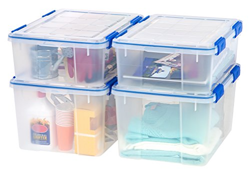 Ziploc Weathershield 26 5 And 44 Quart Storage Box 4 Pack