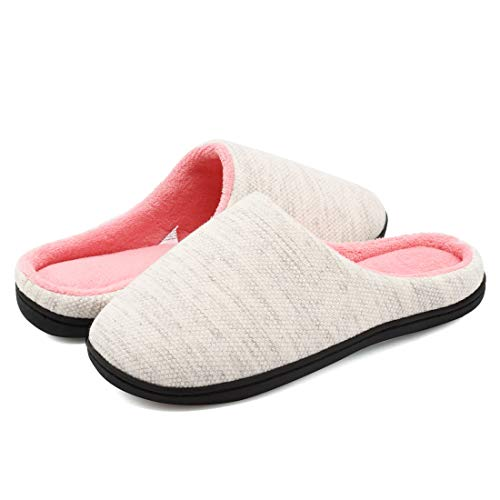 Outdoor House Sole Comfort Foam Indoor Fleece Slip Memory Slippers Women's Skid on FCKEE Light Grey Slippers Coral Anti ZqxH60
