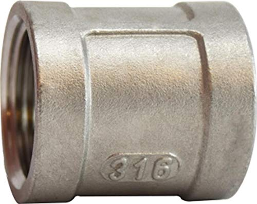 1 1 Midland Metal 316 Stainless Steel Size 150# Midland 63-415 316 Stainless Steel Coupling