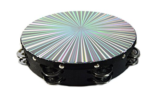 "Tambourine 10"" Reflective Laser Patern"