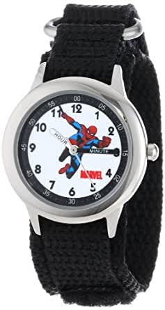 "Marvel Kids' W000115 ""Spider-Man Time Teacher "" Stainless Steel Watch"