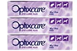 OptixCare Eye Lube Plus + Hyaluron 20g for Dog Cat Horses, Pack of