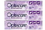 OptixCare Eye Lube Plus + Hyaluron 20g for Dog Cat Horses, Pack of 3