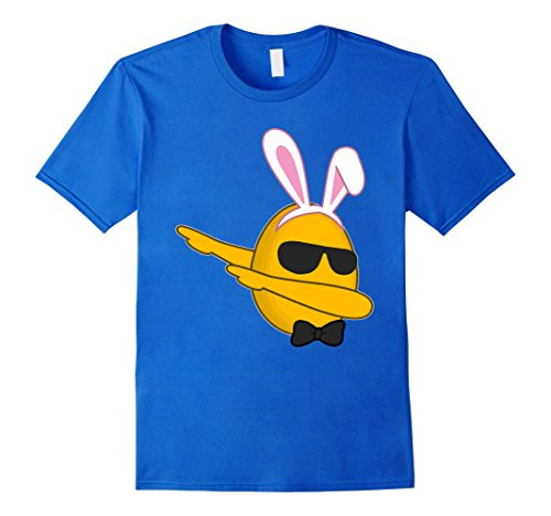 Men's Dabbing Emoji Easter Shirt Girls Teen Boys Kids Adults Dab Large Royal Blue (Hip Hop Dance Costumes For Teenagers)