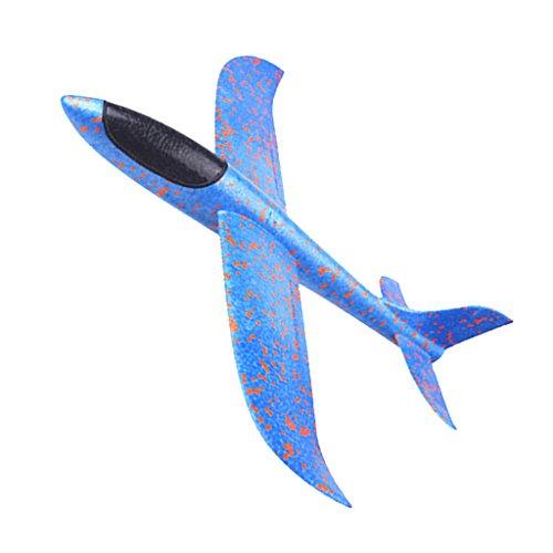 Kesoto 子ども おもちゃ ハンド飛行機 手動 グライダーモデル 模型 EPP泡製 2色選択でき - ブルー