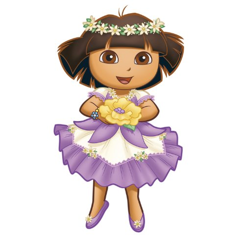 ROOMMATES RMK1668GM Nickelodeon Dora's Enchanted Forest Adventures Peel and Stick Giant Wall Decals