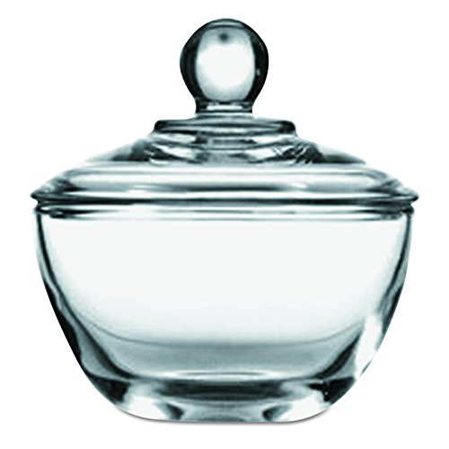 (Anchor Hocking 64192B 4-1/8 Inch Diameter x 4-3/8 Inch Height, 8-Ounce Glass Sugar Dish with Cover (Case of 4))