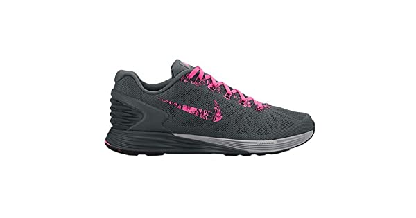 reputable site 83e06 41ebf NIKE Lunarglide 6 Print Women s Running Shoe (5 M US, Grey Pink)