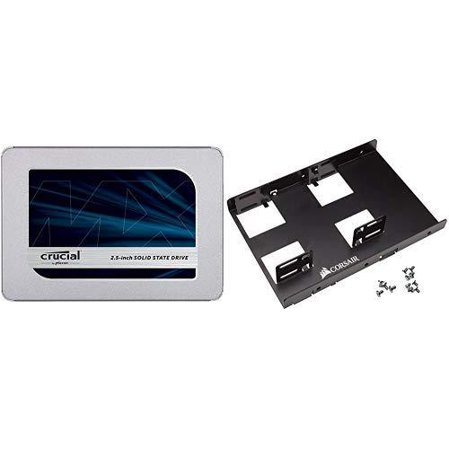 Crucial MX500 1TB SATA 2.5 Inch Internal SSD + Corsair SSD bracket