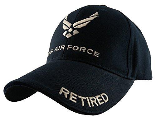 Force Retired Baseball cap, Navy Blue, Adjustable ()