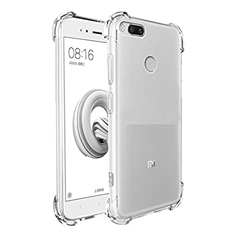 new product 05b89 73997 HoA Xiaomi Mi A1 Shock Proof Rugged Anti Drop Soft Flexible Back Cover |  Case | Clear | Transparent | TPU Bumper Corners | 360 Degree Full Body ...