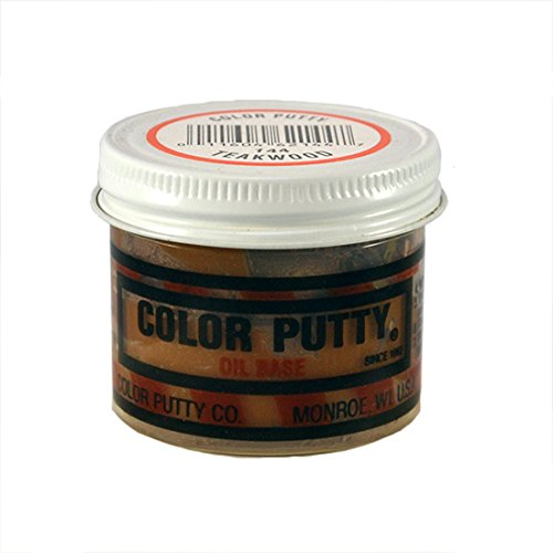 Teakwood Color - Color Putty Company 144 Color Putty 3.68 Ounce Jar, Teakwood