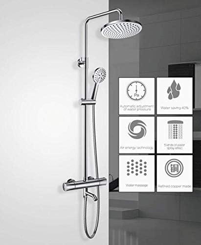 BZM-ZM 設定インテリジェントサーモスタット蛇口シャワーノズル真鍮シャワーサーモスタット混合弁浴室の蛇口シャワーシステム