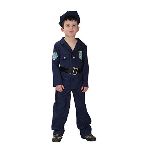 COSAUG Pretend Play Police cop Dress up Costume for Kids