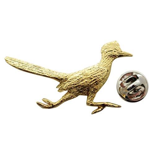 Sarah's Treats & Treasures Roadrunner Pin ~ 24K Gold ~ Lapel Pin