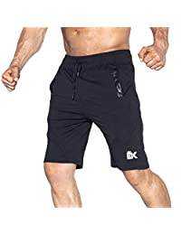 d9c46062ea BROKIG Men's Gym Shorts, Athletic Running Mesh Shorts Activewear Quick-Dry  with Pockets