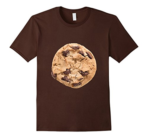 Funny Matching Costumes (Mens Cookie Last Minute Halloween Funny Matching Costume T-Shirt Medium Brown)
