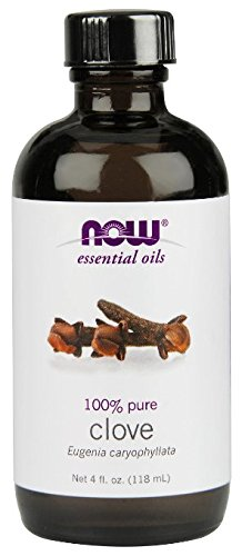 Now Foods Essential Oil, Clove, 4 Ounce  (1 Glass Dropper Included)