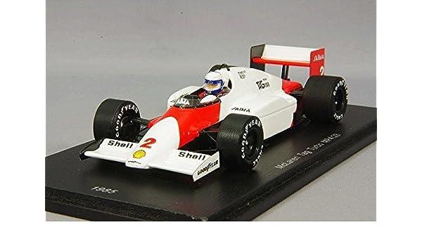Amazon.com: Spark ☆ [Eurosport custom 1/43 McLaren TAG Turbo MP4/2B 1985 F1 world champion # 2 A. Prost: Toys & Games