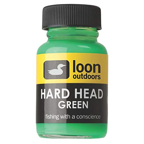 Loon Outdoors Non-Toxic Hard Head Fly Tying Cement Green - Free Fly Tying