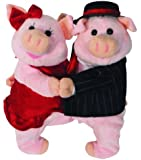 "14"" Fred and Astelle Animated Singing Pigs Dancing Mambo No 5 Plush Toys"