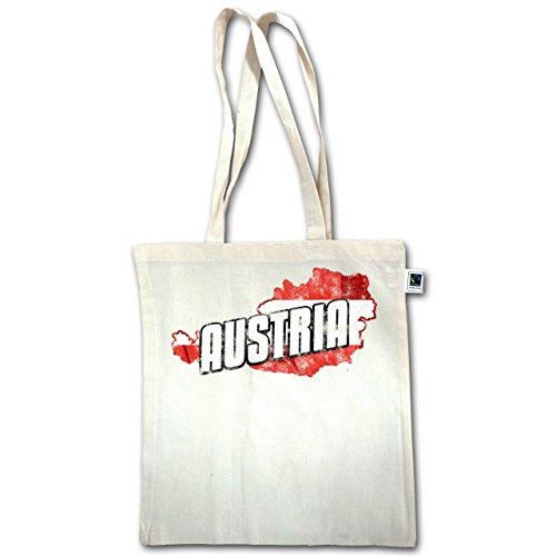 Paesi - Austria Outline Vintage - Unisize - Natural - Xt600 - Manici Lunghi In Juta Bag