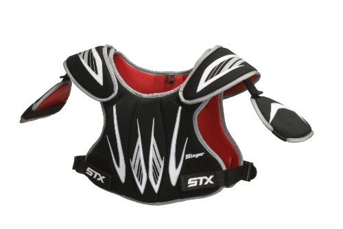 STX Lacrosse Stinger Shoulder Pad (Black, Medium)