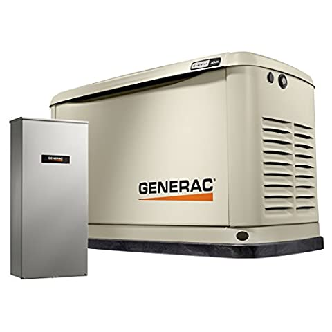 Generac 7039 Guardian Series 20kW/18kW Air Cooled Home Standby Generator with Whole House 200 Amp Transfer Switch (not (Generac Guardian Series)