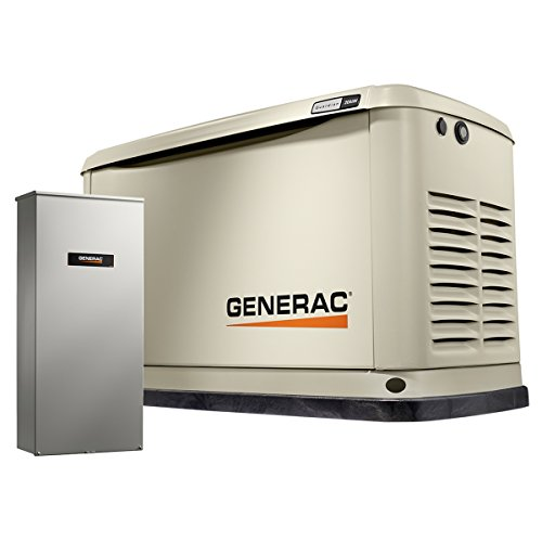 Guardian Automatic Generator - Generac 7039 Guardian Series 20kW/18kW Air Cooled Home Standby Generator with Whole House 200 Amp Transfer Switch (not CUL)