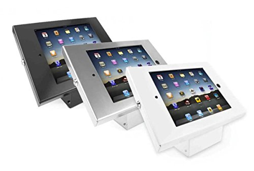 Maclocks 101W202ENW Full Metal Jacket Kiosk with 45-Degree Mount for iPad 2/3/4, iPad Air, iPad Air 2 (White) by Compulocks (Image #1)