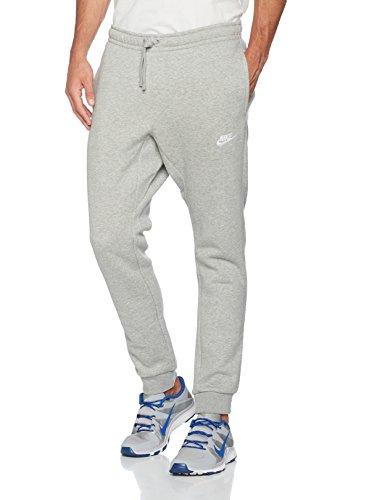 NIKE Sportswear Mens Club Joggers, Dark Grey Heather/White, Medium