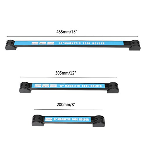 Onpiece 8'' 12'' 18'' Magnetic Tool Holder Bar Racks with 4 Mounting Screws, Metal Magnet Storage Tool Organizer Racks, Great for Garage Workshops (8'') by Onpiece (Image #3)