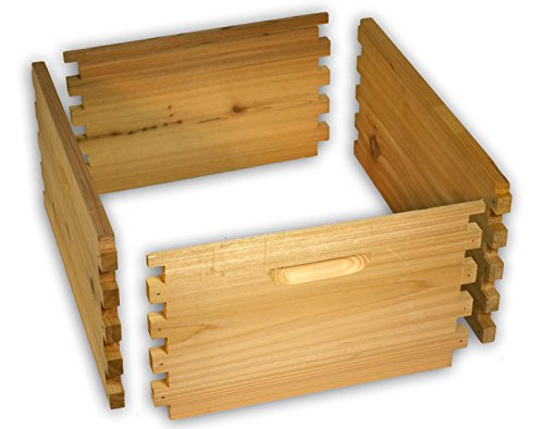 Arboria 10 Frame Deep Hive Box Budget Cedar Wood for Langstroth Beekeeping Made in USA, 16 x 19 x 9 Inches