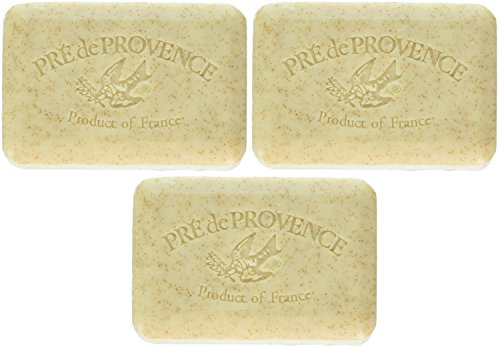 Artisanal Soap - Pre de Provence Artisanal French Soap 250g Wrapped Bar Shea Butter Enriched, Quad-Milled For A Smooth & Rich Lather, Honey Almond (Pack of 3)