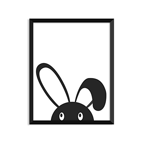 Bunny Peakaboo - Unframed art print poster or greeting card