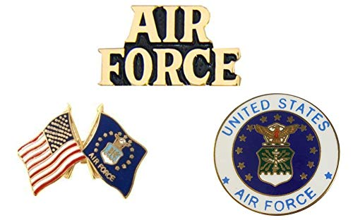(U.S. Air Force USAF Pins - Novelty Hat Pin 3 PACK)