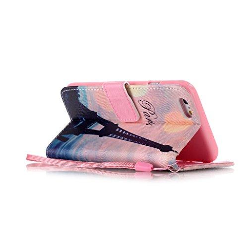 """iPhone 6S / iPhone 6 4.7"""" Coque , Apple iPhone 6S / Apple iPhone 6 4.7"""" Coque Lifetrut® [ Paris ] [Wallet Fonction] [stand Feature] Magnetic snap Wallet Wallet Prime Flip Coque Etui pour Apple iPhone"""