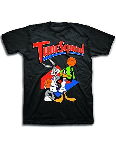 Classic Jordan Tee Graphic Mens (space jam Mens Classic Shirt - Tune Squad Michael Jordan & Bugs Bunny Tee 90's Classic T-Shirt (Black, M))