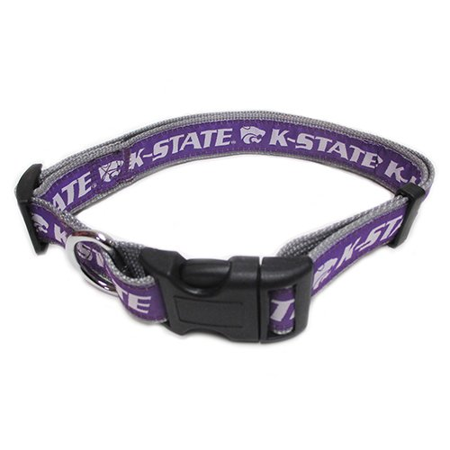 - Pets First Collegiate Pet Accessories, Dog Collar, Kansas  State  Wildcats, Large