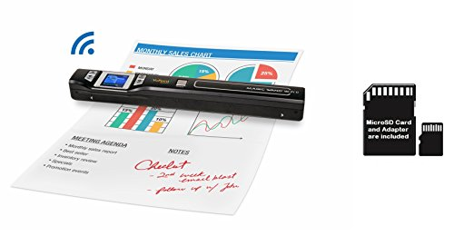 VuPoint Magic Wand Wireless Portable Scanner with Wi-Fi, Plus Bonus 8GB MicroSD Card, PC and Mac, Mobile/Portable PDSWF-ST47-VP by VUPOINT