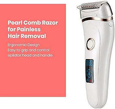 Maquinilla de afeitar eléctrica sin dolor para mujeres, recargable ...