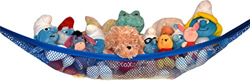 Toy Storage Net for Stuffed Animals - Top Quality Hammock by Kidde Time (White)